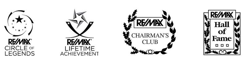 Re/Max circle of legends award, Re/Max lifetime achievement award, Re/Max chairman's club, Re/Max hall of fame award.