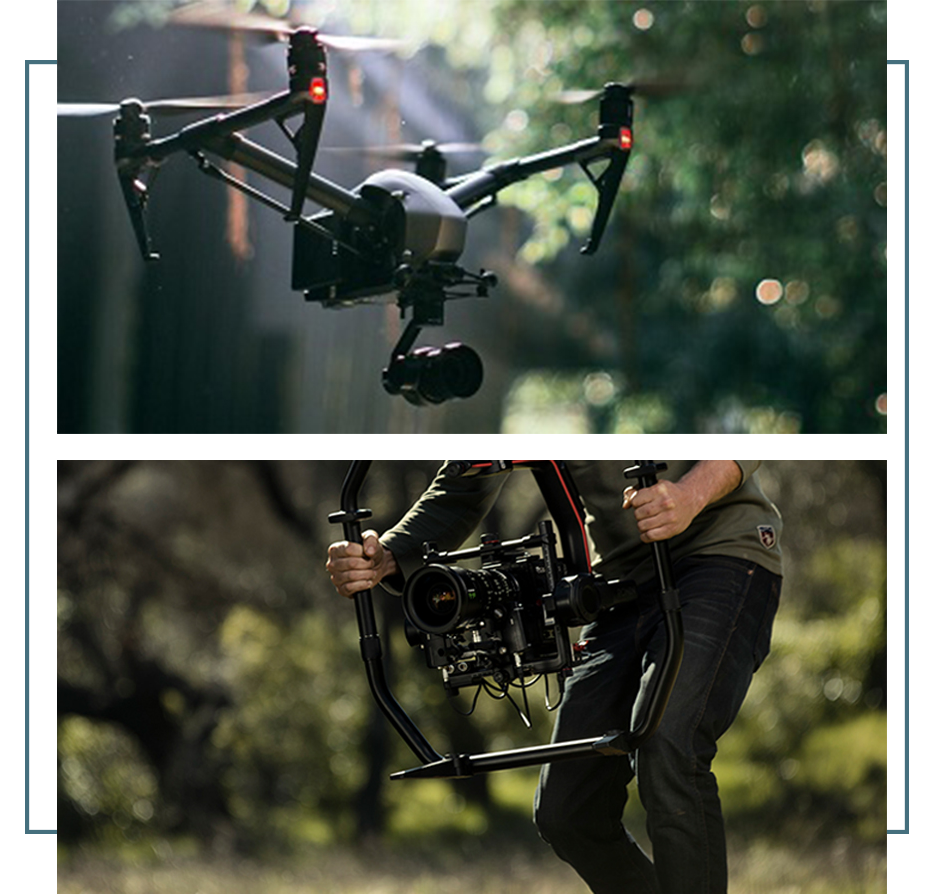 Professional photo and video marketing including drone shots